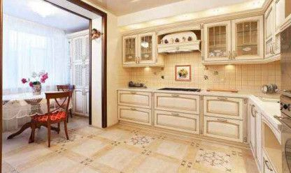 Можно разместить любую мебель, шкафы, столы, стулья, диваны и т.д.  Обеденная зона на лоджии.
