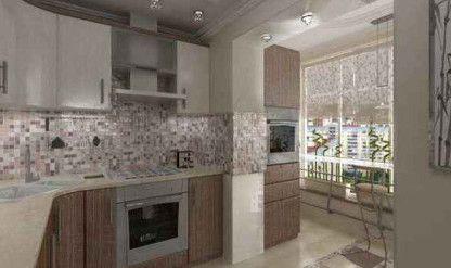 Вы можете поставить там обычные кухонные приборы – холодильник, электрическую плиту, микроволновку, чайник и т.д. При монтаже электропроводки важно предусмотреть необходимое количество розеток.