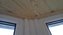 Обшивка балкона бессучковой вагонкой