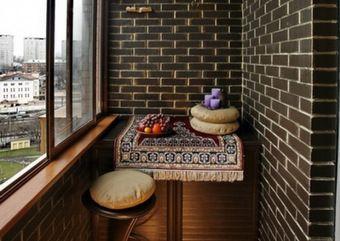 Отделка теплого балкона