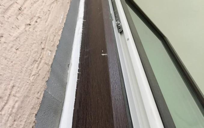 Монтаж Г-образного балкона с ламинацией 7