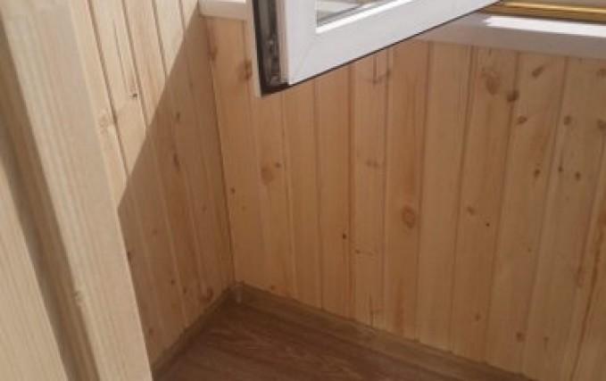 Обшивка балкона, утепление, установка электрики 0