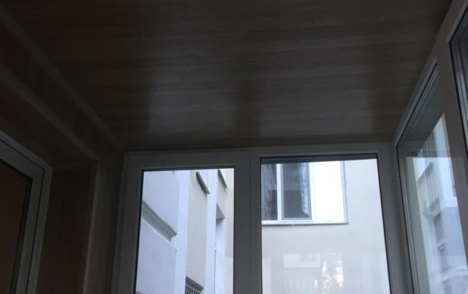 Монтаж балкона. Теплый пол, плитка, обшивка 6