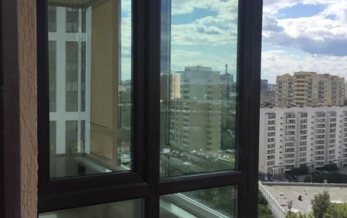 Монтаж Г-образного балкона с ламинацией 1
