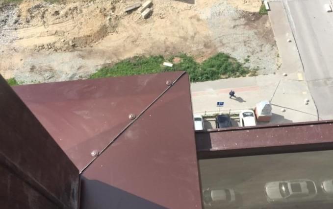 Монтаж Г-образного балкона с ламинацией 4