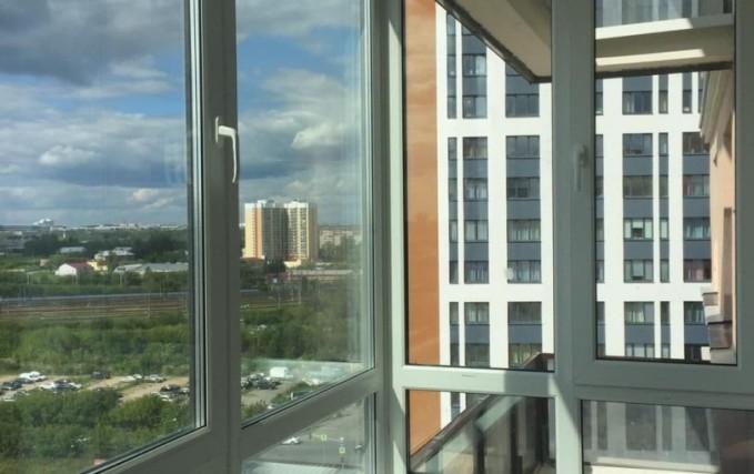 Монтаж Г-образного балкона с ламинацией 0