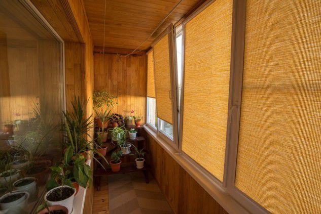 Остекление балкона фото - солнцезащита