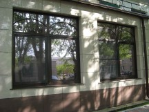 Окна в венецианском стиле. Монтаж окон в кафе «Венеция» г. Реж
