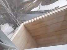 Балкон с обшивкой сайдингом