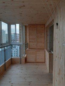 Обшивка балкона в новом доме