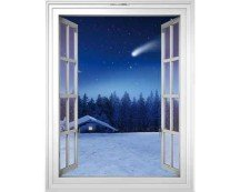 Нарисованное окно - варианты дизайна фальш-окон