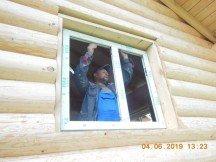 """Закончена установка окон Века70 и теплой двери """"Аргус"""""""