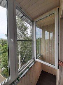 Установка теплого ПВХ балкона