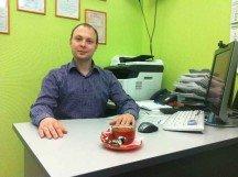 Встречаем клиента в офисе