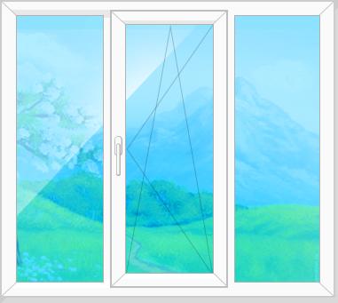 Трехстворчатое окно
